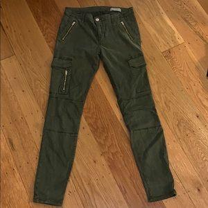 Zara green cargo pants